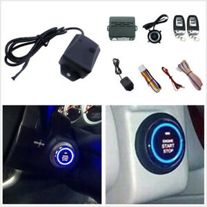 Smart Remote Control Car Alarm Starter System Push Button Start Vibration Alarm