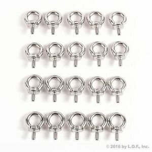 20 Stainless Steel Eye Bolt 316 Machine Din 580 Shoulder Lifting 6mm Marine M6