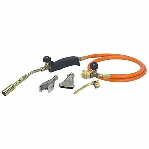 Propane Torch 3 Burners Solder Thaw Sweat Pipes Heat Large Surfaces 350psi Ice