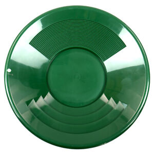 14 Green Plastic Gold Pan W Shallow Deep Riffles For Gold Prospecting