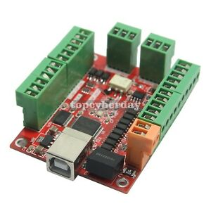 Cnc 4 Axis 100khz Stepper Motor Driver Breakout Board Usb Mach3 Usbcnc Us Stock