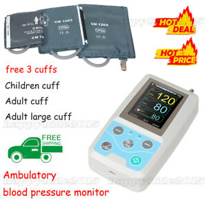 24h Nibp Holter Ambulatory Blood Pressure Monitor With 3 Cuffs free Softeare