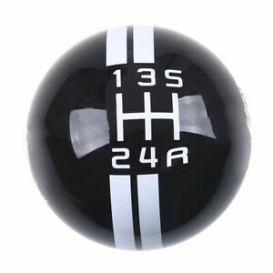 Black W Gear 5 Speed For Ford Mustang Shelby Gt 500 Manual Gear Shift Knob Mt
