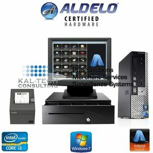 Aldelo Pro Restaurant Bar Pizza Dell Pos Complete Station Windows 7 New I3 4gb