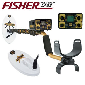 Fisher Gold Bug 2 Ii Metal Detector With 6 5 And 10 Elliptical Search Coils