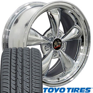17x8 Wheels Tires Fit Ford Mustang Bullitt Chrome Rim 3448 Toyo W1x
