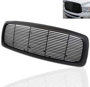 2002 05 Dodge Ram 1500 2003 2500 3500 Pickup Front Upper Top Main Grille Black