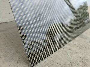 Carbon Fiber With Kevlar Plate 12 X 24 X 0 10 Inch
