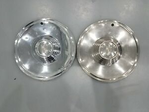 1956 56 1957 57 Lincoln Continental Premier Wheel Hub Caps 15 Oem Set Of 2