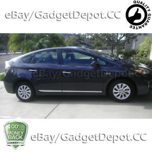 For 2012 2013 2014 2015 Toyota Prius Chrome Side Moldings Trims 4pcs