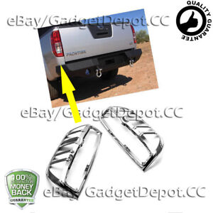 For 2005 2010 2011 2012 2013 2014 2015 Nissan Frontier Chrome Tail Light Cover