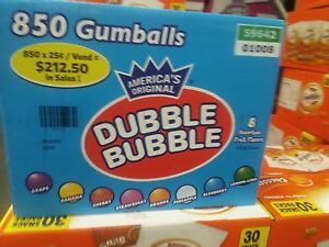 Dubble Bubble 1 Gumballs Vending Candy Gumball 850 Assorted Fruit Bulk Double