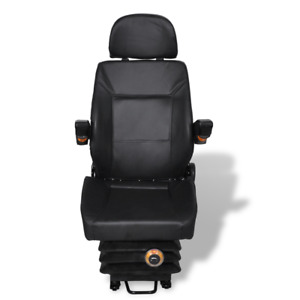 Tractor Seat With Arm Rest And Head Rest With Spring Headrest Sturdy Suspension