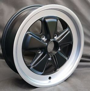 Maxilite Fuchs 16x6 Wheel New Tuv Approved Et36 Matte Black For Porsche