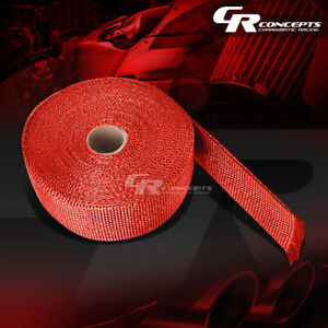 7 5m 25 Feet Header Manifold Downpipe Piping Exhaust Insulating Red Heat Wrap
