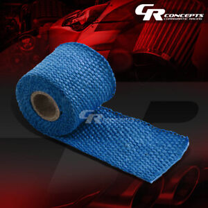 5ft 60 L 2 W Header Manifold Turbo Exhaust Pipe Insulating Blue Heat Wrap