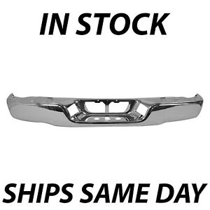 New Chrome Steel Rear Bumper Shell Face Bar For 2007 2013 Toyota Tund