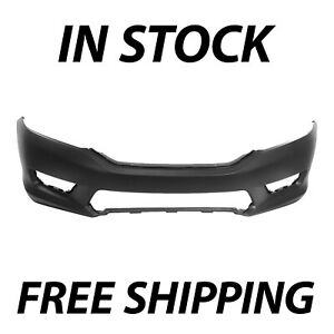 New Primered Front Bumper Cover Fascia For 2013 2015 Honda Accord Sedan 13 15