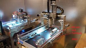 Robo shop Pro 4th Axis W Tailstock For Your Cnc Router A Axis 3 Jaw Chuck