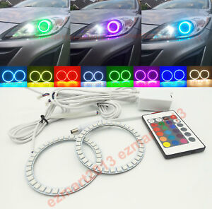 Rf Rgb Halo Rings For Mazda 3 Projector 2010 2013 Led Angel Eye Multicolor Drl