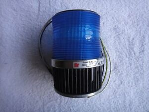 Federal Signal Fireball Ii Strobe Pipe surface Mount Blue 120v 50 60hz Fb2pst