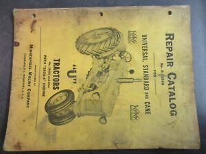 Minneapolis Moline U Tractor Repair Catalog