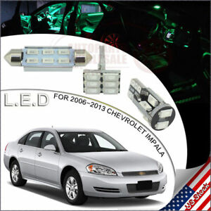20 Interior Lights Package Led Bulbs Green For 2006 2013 Chevrolet Impala