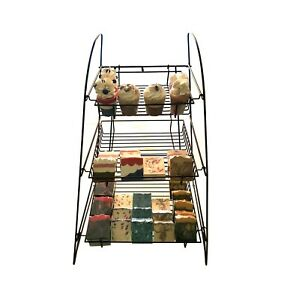 3 tier Wire Display Rack Bakery Snacks Confection Tray Display Countertop Stand