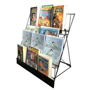 4 tier Wire Display Rack Literature Brochure Magazine Stand Book Tabletop Rack