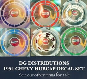 1954 Chevy Hubcap Hard Top Bel Air Coupe Convertible Sedan Delivery Decal Set