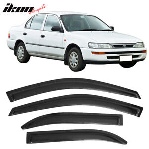 Fits 93 97 Toyota Corolla Acrylic Window Visors 4pc Set