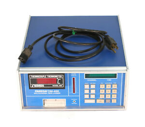 Omega Om 400 10 Channel Data Logger W Thermocouple Thermometer 660
