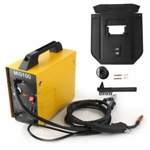 Mig 100 110v 120v Flux Core Wire No Gas Less Welder Welding Machine Free Ship Oy