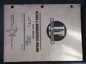 Oliver 2255 Minneapolis Moline G955 G1355 Tractor Shop Manual