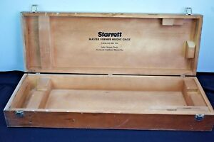 Long Empty Wood Box Case For Starrett Master Vernier Height Gage 254 254