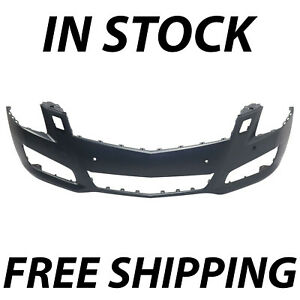 New Primered Front Bumper Face Fascia For 2013 2014 Cadillac Ats With Park 13 14