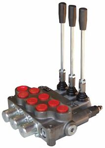 Hydraulic Directional Valve Tandem Center 3 Spool 21 Gpm New