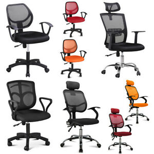 Adjustable Mesh Office Desk Computer Chair Ergonomic Padded Seat W Armrest