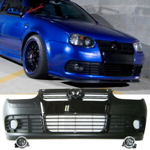 Fits 99 04 Vw Golf Mk4 R32 Style Pp Front Bumper Conversion And Foglight Lamp