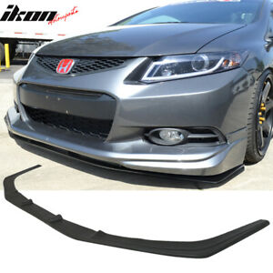 Fits 12 13 Civic Coupe 2dr Usdm Modulo Front Lower Lip Splitter Urethane Pu