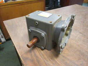 Boston Gear Reducer F715 40 b5 g Ratio 40 1 0 43hp In 442 In lb Output Used