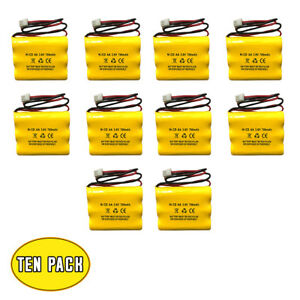 3 6v 700mah 900mah Nicad Battery Unitech Lowes Exit Light Emergency Sign 10 Pack