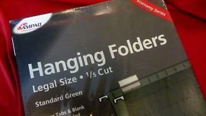 Box Of Ampad Hanging Folders legal Size 1 5 Cut std Green 11 Pt 16350