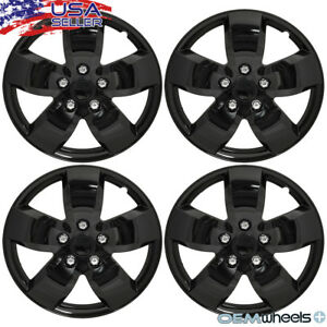 16 Hub Cap Set Of 4 Gloss Black Wheel Cover Honda Civic Accord Acura Integra