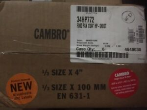 case Of 6 Cambro 34hp772 X pan 1 3 Size Sandstone High Heat Food Pan 4 Deep