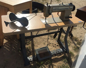 Singer 591d 300a Industrial Sewing Machine With Table