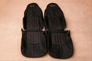 Custom Made 1997 2004 C5 Corvette Real Leather Seat Covers For Base Seats