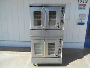 Montague double stacked natural gas convection oven 2 115aei 1 phase 115v 2615