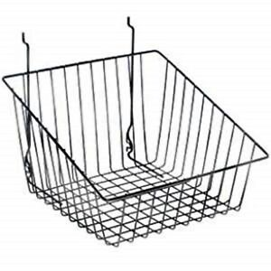 Only Hangers Black Tapered Slatwall gridwall Basket 12 X 12 X 8