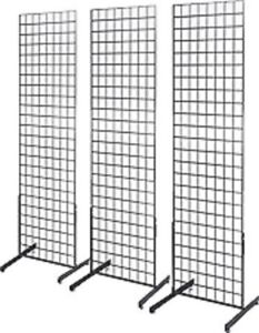 Only Hangers 2 X 6 Grid Wall Panel Floorstanding Display Fixture 3 Pack